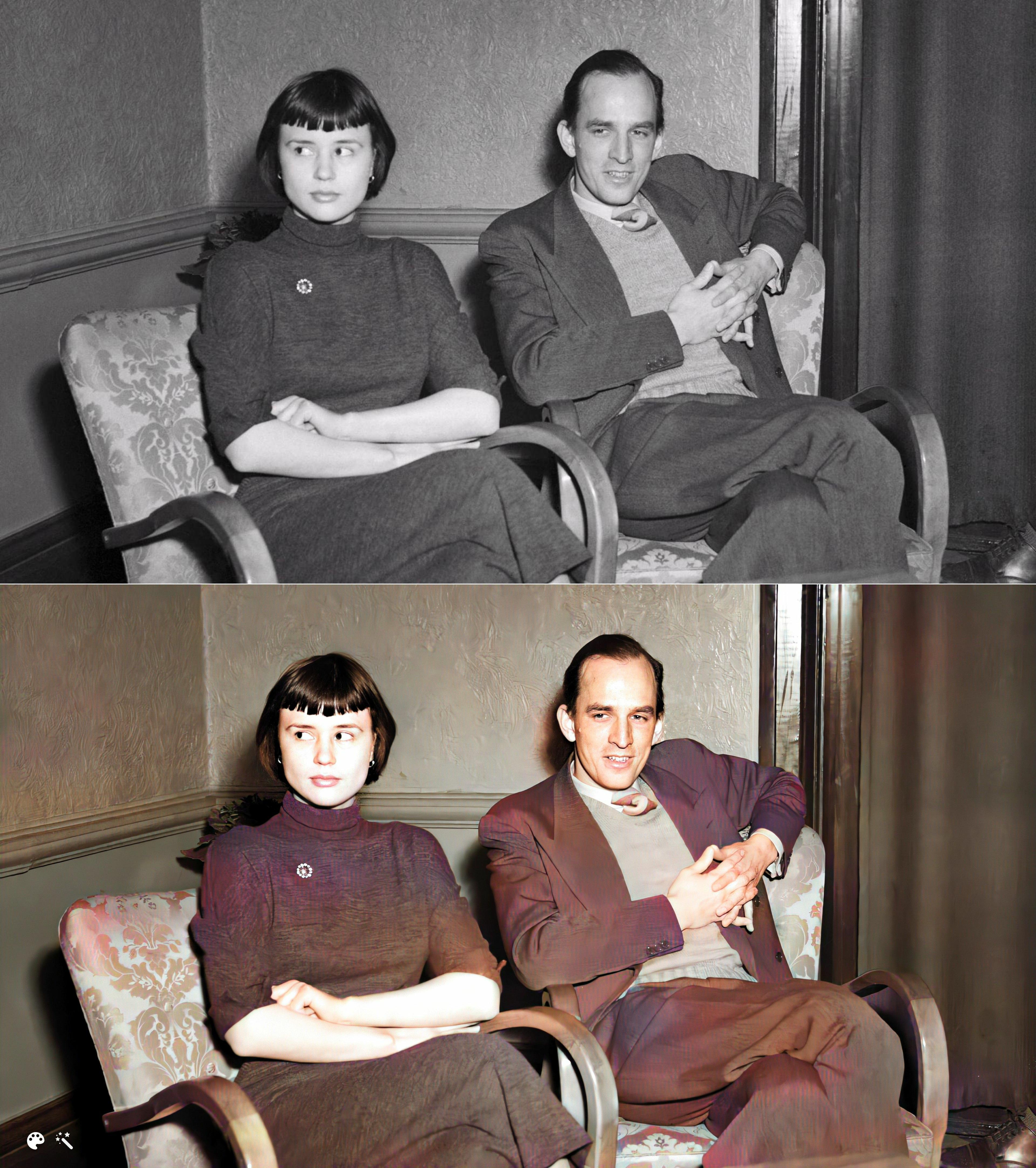 Ingmar Bergman med Harriet Andersson